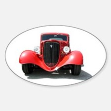 Helaine's Hot Rod Oval Decal
