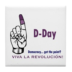 Give Castro the Purple Finger - Cuba Tile Coaster