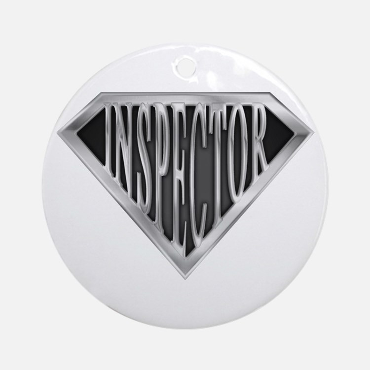 SuperInspector(metal) Ornament (Round)