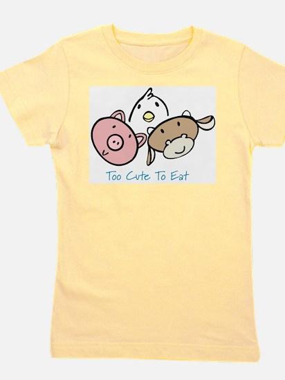 Cute Peta eat no Girl's Tee