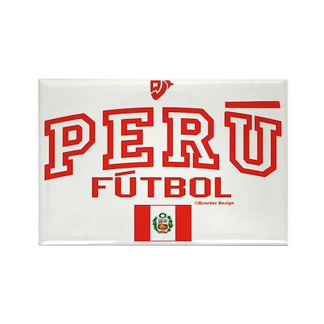 Peru Futbol/Soccer Rectangle Magnet