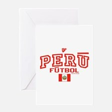 Peru Futbol/Soccer Greeting Card