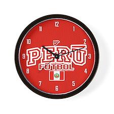 Peru Futbol/Soccer Wall Clock