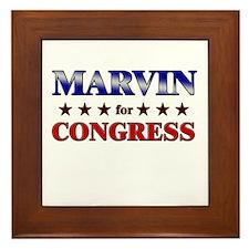 MARVIN for congress Framed Tile