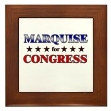 MARQUISE for congress Framed Tile