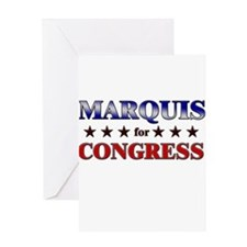 MARQUIS for congress Greeting Card