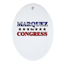 MARQUEZ for congress Oval Ornament