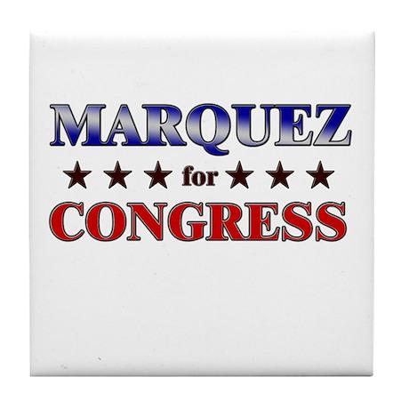 MARQUEZ for congress Tile Coaster