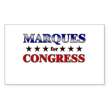 MARQUES for congress Rectangle Sticker