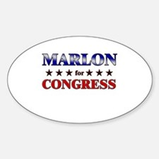 MARLON for congress Oval Decal