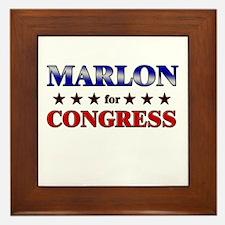 MARLON for congress Framed Tile
