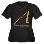 Out Campaign Women's Plus Size V-Neck Dark T-Shirt