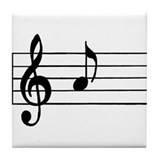 Music theme Tile Coasters