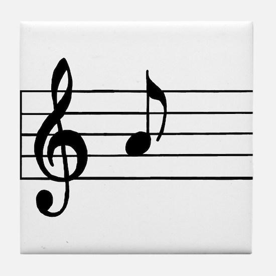 'A' Musical Note Tile Coaster