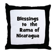 Blessings  to  the  Rama of N Throw Pillow