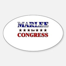 MARLEE for congress Oval Decal