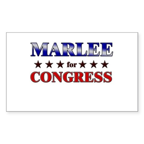 MARLEE for congress Rectangle Sticker