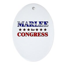 MARLEE for congress Oval Ornament