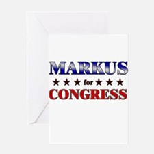 MARKUS for congress Greeting Card