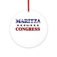 MARITZA for congress Ornament (Round)
