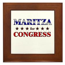 MARITZA for congress Framed Tile