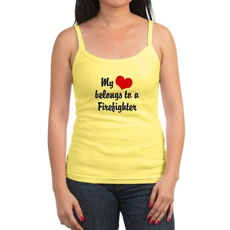 My Heart Belongs to a Firefig Jr. Spaghetti Tank