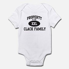 Property of Clack Family Infant Bodysuit