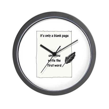 Blank Page Wall Clock