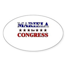 MARIELA for congress Oval Decal
