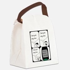Cute Quit smoking Canvas Lunch Bag