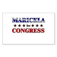 MARICELA for congress Rectangle Decal