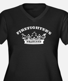 Firefighter's Princess Women's Plus Size V-Neck Da