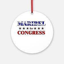 MARIBEL for congress Ornament (Round)