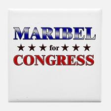 MARIBEL for congress Tile Coaster