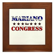 MARIANO for congress Framed Tile