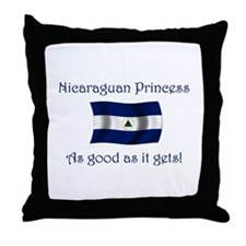 Nicaraguan Princess Throw Pillow