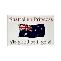 Australian Princess Rectangle Magnet