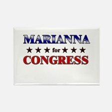 MARIANNA for congress Rectangle Magnet