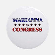 MARIANNA for congress Ornament (Round)