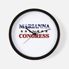 MARIANNA for congress Wall Clock
