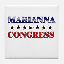 MARIANNA for congress Tile Coaster