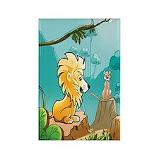 Lion Rectangle Magnet (100 pack)