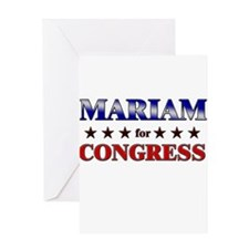 MARIAM for congress Greeting Card