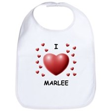 I Love Marlee - Bib