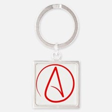 Funny Atheist Square Keychain