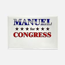 MANUEL for congress Rectangle Magnet