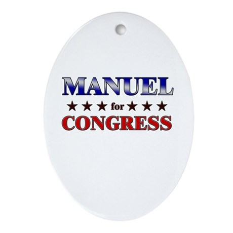 MANUEL for congress Oval Ornament