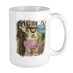 Heather Hippo Paradise Island Large Mug
