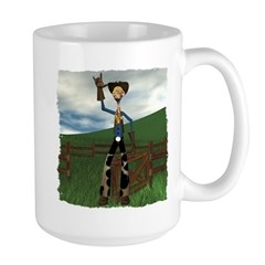 Hay Billy at the Ranch Large Mug
