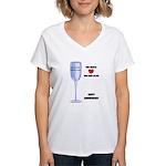 HAPPY ANNIVERSARY Women's V-Neck T-Shirt